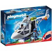 Playmobil City Action: Helicóptero de policía con luces LED (6921)