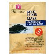 Dermacol Mască antirid cu caviar (Gold Elixir Caviar Face Mask) 2 x 8 g