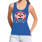 Bellatio Decorations Blauw Toppers drinking team tanktop / mouwloos shirt dames