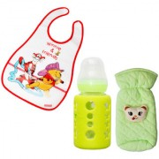 Toys Factory Baby bottle bib and feeder cover (set)