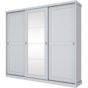 Guarda Roupa Olympia Henn 03 Portas Com Espelho Deslizantes Branco Hp