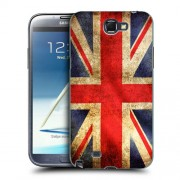 Husa Samsung Galaxy Note 2 N7100 Silicon Gel Tpu Model UK Flag
