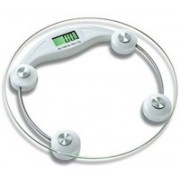 A&D Personal Digital Bathroom Weighing Scale glass weight Machine for body weight measurement (8mm White Round Weighing machine) Weighing Scale(White)