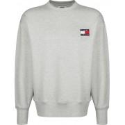 Tommy Jeans Badge Crew Herren Sweater grau meliert Gr. S