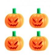 MINIFIGURES LEGO Halloween Pumpkin with Green Stem Jack O' Lantern Headgear Minifigure Accessory Pack of 4