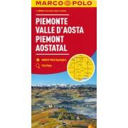 Wegenkaart - landkaart 01 Piemont - Aostatal - Aosta dal | Marco Polo