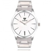 Lorenz Original White Dial Stainless Steel Men's & Boys Analog Wrist Watch- 1067A