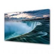 Tablou Canvas Premium Peisaj Multicolor Cascada uriasa si cer colorat Decoratiuni Moderne pentru Casa 80 x 160 cm