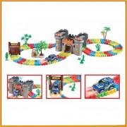 Rose International Castle Theme 158PCS Magic Flexible Track Car Glow Tracks