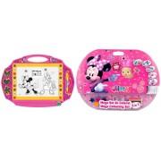 Pachet Tabla de scris Minnie magic scribbler mare si Mega set de colorat 5 in 1 Minnie Mouse