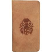 Kan New Year Gift-Tan Hunter Leather Passbook Holder/Passport Holder/Card Case for Men & Women(Tan)