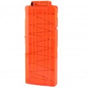 Clips De Bala Suaves 12 Balas Para Nerf N-strike Pistola Juguete - Naranja Transparente