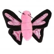 Nature Plush Planet Pluche knuffeltje roze vlinder 10 cm