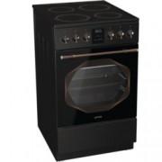 Готварска печка Gorenje EC53INB, клас А, 70 л. обем на фурната, 4 нагревателни зони, Стъклокерамичен плот, AquaClean почистване, GentleClose, MultiAir, черна