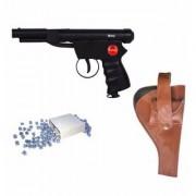 Prijam Air Gun Bc-007 Model With Metal Body For Target Practice Combo Offer 300 Pellets With Cover & Air Gun