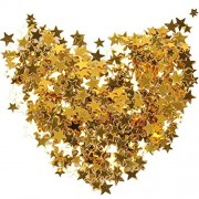 Color Scissor Gold Confetti Star Table Metallic Foil Stars Sequins For Party Wedding Decorations, 30 Grams/ 1 Ounce