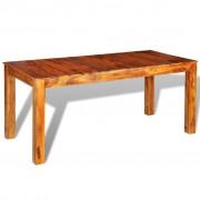 vidaXL Masă de bucătărie din lemn masiv sheesham, 180 x 85 76 cm