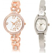 The Shopoholic White Silver Combo Latest Collection Fancy And Attractive White And Silver Dial Analog Watch For Girls Watches For Women Fashion