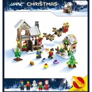 JJRC 1001 741Pcs Navidad Santa Claus Elk Building Blocks Educational Gift for Children