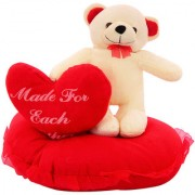 DealBindaas Standing On Heart With Dil Valentine Stuff Teddy