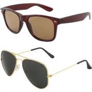 Zyaden Combo of Wayfarer Sunglasses & Aviator Sunglasses (Combo-41)