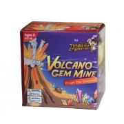 Volcano Gem Mine with Crystals and Gemstones EZ Dig Collection Series