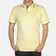 Pentru bărbaţi jumătate tricou cu scurt maneca Willsoor 5034 în galben culoare