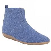 Exotique Womens Denim Casual Boots(EL0030BL)