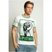 Epatage Мужская модная футболка с принтом белого цвета Epatag RT020768m-EP