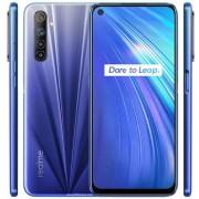 "Telefon Mobil Realme 6, Procesor Octa-Core Mediatek MT6785 Helio G90T, IPS LCD capacitive touchscreen 6.5"", 8GB RAM, 128GB Flash, Camera Quad 64+8+2+2MP, Wi-Fi, 4G, Dual Sim, Android (Albastru) + Cartela SIM Orange PrePay, 6 euro credit, 6 GB internet 4G,"