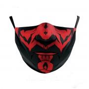 Dizajnová maska na tvár - 100% polyester Darth Maul