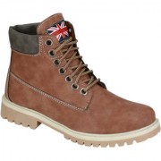 Wave Walk MenS Brown Casual Lace-Up Boots (BOMBER-10-CAMEL)