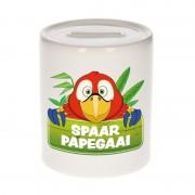 Bellatio Decorations Kinder spaarpot met papegaaien print 9 cm