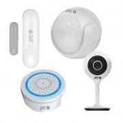 SPC Security Starter Kit Sensor Aperio + Sensor de Movimentos + Alarme Sonus + Lares Câmara 115º