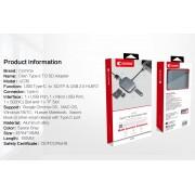 Comma Clian USB-C to Card Reader Hub - USB-C хъб за свързване от USB-C към SD и MicroSD карти и USB 3.0 (тъмносив)