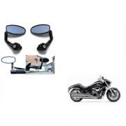 Kunjzone Premium Quality Motorycle Bar End Mirror Rear View Mirror Oval for Suzuki Intruder M1800