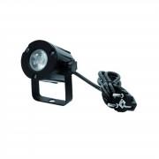 EuroLite LED Pinspot PST-3W 3200K 6° BK Warm blanco