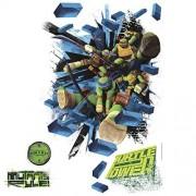RoomMates Calcomanías de pared, quita y pega, Teenage Mutant Ninja Turtles, Afiche de ladrillos