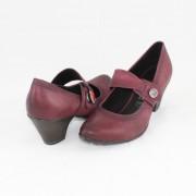 Pantofi piele naturala dama - violet, Marco Tozzi - toc mic - 2-24417-29-VinoAntic