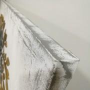Puf plegable polipiel blanco 76x40x40