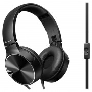 Pioneer SE-MJ722T-B Foldable Over-ear Headset - 3.5mm - Black