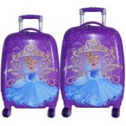 Texas USA set of 2 bags 18 inches and 22 inches PRINCESS4 Printed Polycarbonate 4 wheel Kids Trolley Bag Expandable Cabin Luggage - 22 inch(Multicolor)