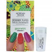 Morgan Taylor - Designer Plates Nail Art Stamping Kit - Geometric Collection 1