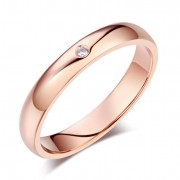 Inel Borealy Aur Roz 14 K Natural Diamond Women s Style Wedding