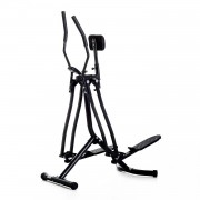 HOMCOM Air Walker Cross Trainer per Fitness Allenamento a Casa con Display Nero