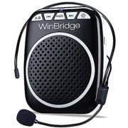 WinBridge WB001 Rechargeable Ultralight Portable Voice Amplifier Waist Support MP3 Format Audio for Tour Guides Teachers Coaches Presentations Costumes Etc.-Black