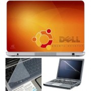 Finearts Laptop Skin Dell Ubuntu With Screen Guard And Key Protector - Size 15.6 Inch