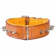 Globus Läderhalsband Hector Med Nitar (Storlek: 60CM Ljusbrun)