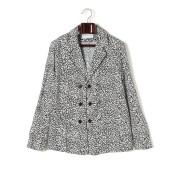 【80%OFF】デザイン柄 ダブルブレステッド テーラードジャケット ブラック 44 ファッション > メンズウエア~~ジャケット
