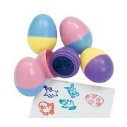 6 Easter Egg Stampers Measure 1.5 Inches For Easter Eggs Hunt Game, Party, Kids Stamps Activities